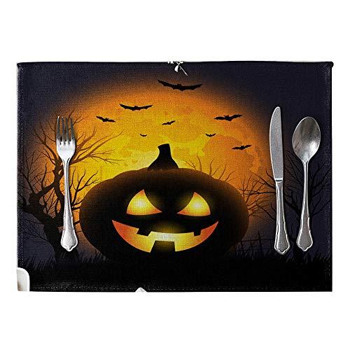 Bangle009 Platzdeckchen für Halloween, wärmedämmend, Leinen, Tischdekoration, Tischdekoration ()