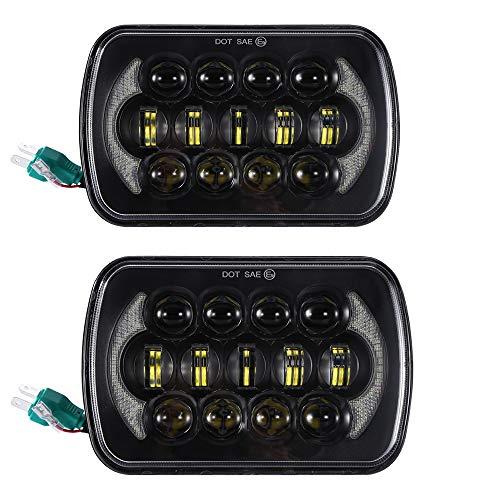 Sxma 12,7x 17,8cm Sealed Beam CREE LED fari con DRL di ricambio per YJ Wrangler Cherokee XJ H6054H5054H6054LL (1coppia)