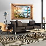 Decomonkey: Optische Täuschung/ Weitblick 3D Fensterblick ca 140x100 cm Wandbild Fototapete Tapete Poster XXL3D Vlies Leinwand Panorama Bilder DekorationTOC0029aM
