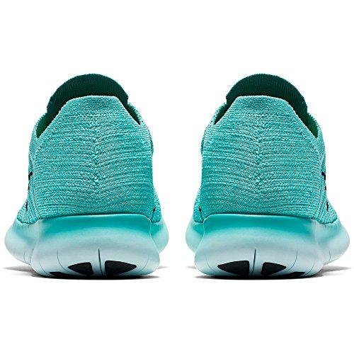 Nike Free Rn Flyknit, Scarpe da Corsa Donna Turchese (Hyper Turquoise/Black/Volt/Teal)