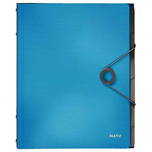 Leitz 45691030 Solid Ordnungsmappe PP A4, 6 Fächer, hellblau