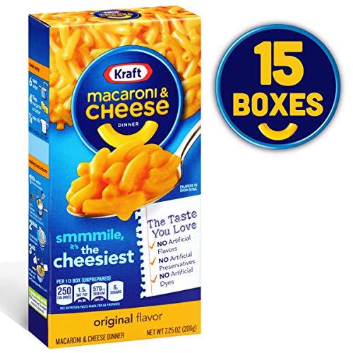Kraft Original Macaroni & Cheese Dinner, 7.25 Oz, (Pack of 15)