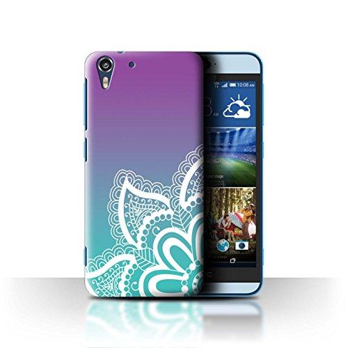 Stuff4® Hülle/Case für HTC Desire Eye LTE/Weiß Henna-Tattoo Muster/Ombre Muster Kollektion