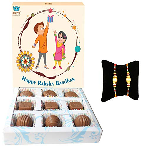 Bogatchi Rakhi Gift Hamper with Chocolates for Brother, 90g