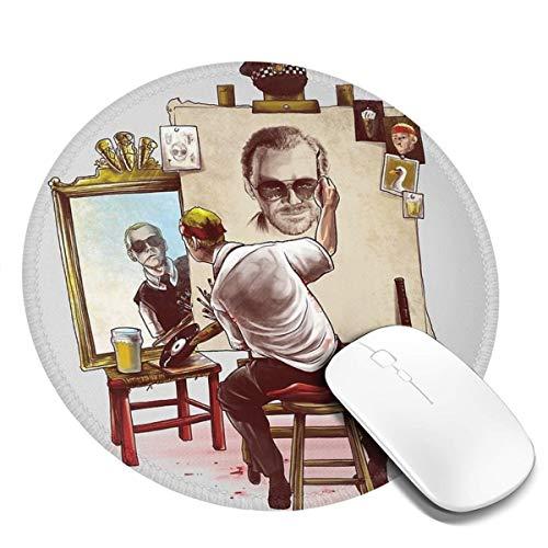 Mauspad Cornetto Portraitformat, rund, 20 x 20 cm, Schreibtisch-Tastaturmatte, großes Mauspad für Computer, Desktop, PC, Laptop, 3D-Druck Dekoration, Schwarz, 1 Stück