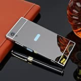 D-kandy Luxury Metal Bumper + Acrylic Mirror Back Cover Case For Sony Xperia XA1 Plus