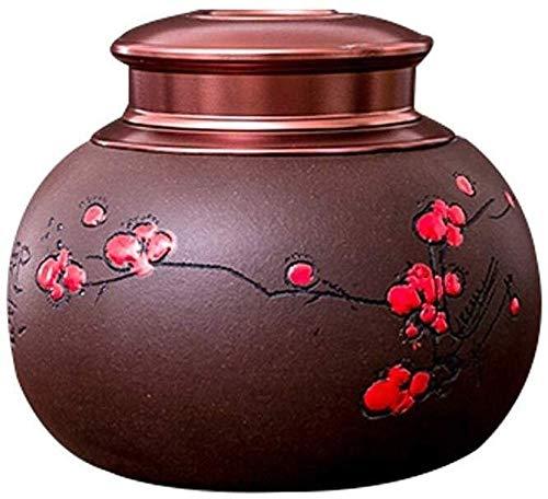 LACC Hand Made Pet Memorial Keramik Urn Supplies Ash Urnen Einäscherung Andenken Cat Geprägte Blume Hund Asche feuchtigkeitsfest Funeral 0221 -