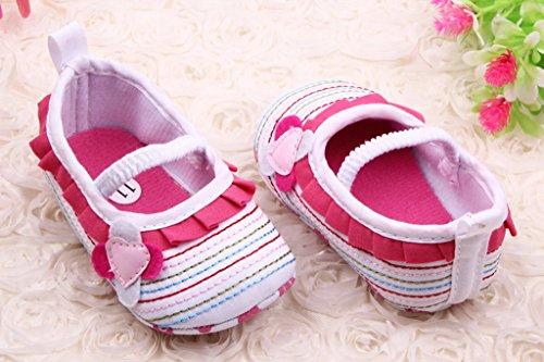 Bigood Chaussure Souple Bébé Fille Chaussures Premier Pas Antidérapant Fleur Blanc
