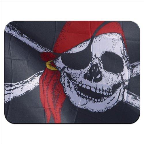 Flagge Pirat Jolly Roger tragen rot Bandana Premium Qualität Mauspad aus dickem Gummi eine angenehm weiche Oberfläche (T Bandana)