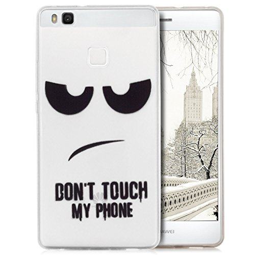Saxonia iPhone 7 Plus / iPhone 8 Plus Hülle Silikon Case Schutzhülle Ultra Slim Back Cover mit Motiv Dont Touch my Phone Transparent Don't Touch My Phone II