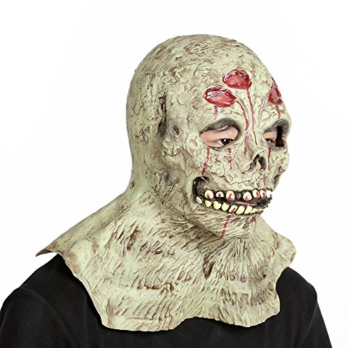 Halloween Cosplay Latex Maske Party Scary Kopf Maske für Kostüm Erwachsene Full Face Maske ( Color : Zombie 2 , Größe : One size )