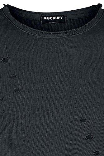 Rockupy Destroyed Sweater Sweat-Shirt schwarz Schwarz