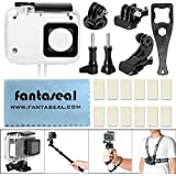 Fantaseal 9-in-1 Dive Housing Kit For Xiaomi Yi 4K 30m Waterproof Housing Dive Housing Frame Mount Kit Underwater Skeleton Housing Protective Case Dive Shell Case Kit For Xiaomi Yi 4K Starter -Clear