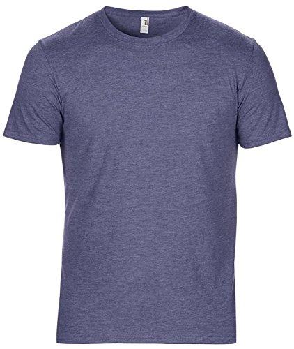 Amboss Erwachsene Tri Blend Tee rund Neck Half Sleeve Semi ausgestattet Casual Wear T-Shirt Mehrfarbig - Heather Blue
