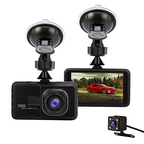 Car Dash Cam Full HD 1080P 3.0 Dashcam DVR Video Recorder Dash Camera with Rear Camera Loop Recording Motion Detection Parking Guard G-Sensor
