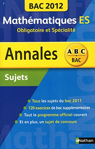 ANNALES BAC 2012 MATHS ES OBLI