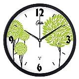 My Beauty Day Wanduhr Präzise für Wanddekoration Radiowecker Wecker Wohnzimmer Kreative Clock große Wanduhr, 12-Zoll-Halterung Stille (30,5 cm Durchmesser), Schwarz