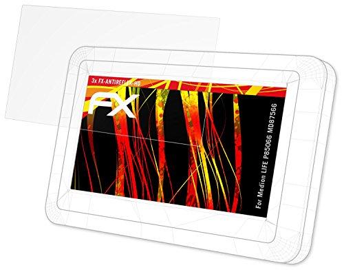 atFoliX Folie für Medion Life P85066 (MD87566) Displayschutzfolie - 3 x FX-Antireflex-HD hochauflösende entspiegelnde Schutzfolie