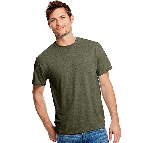 Hanes Men's X-Temp w/Fresh IQ Tri-Blend Performance Tee_Military Heather_S