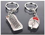 Tastatur & Maus Schlüsselanhänger Schlüsselring für Paare / Geliebte im Set - 2