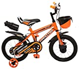 Ollmii™ Bikes, Creattor™ 14 inches (Orange) BMX Series, Unisex, Kids Cycle for 3 to 5 Years