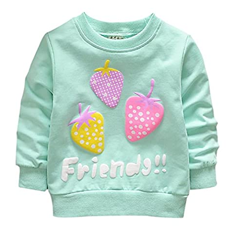 Brightup Baby Girl Sweet Candy Colors Sweatshirt Pullover, Long Sleeve