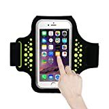 Best Accessory Power Running Armband For Samsung Galaxy S6 S6 Edges - Guzack Sports Armband, Sweat-proof Running Arm Band Review