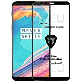 CASE U Full Glue Edge-to-Edge 3D Tempered Glass Screen Protector for OnePlus 5T (Pack of 1, Black)