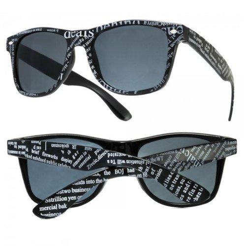 NEW UNISEX (MENS WOMENS) Sonnenbrille Retro Vintage Brille SUNGLASSES Shades UV400 Protection Morefaz(TM) (Newspaper black)