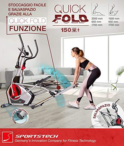 Zoom IMG-2 sportstech cyclette ellittica cx670 quick