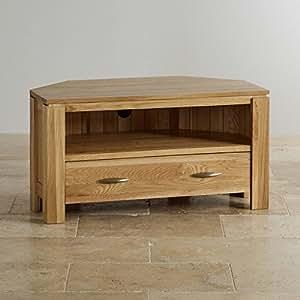 Oak Furniture Land Galway Natural Solid Oak Corner Tv Cabinet Kitchen Home