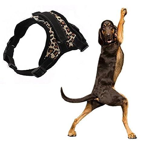 Hund Weste mit Griff Comfort Control Dog Walking Geschirr Hunde LEASHES Brust Gurte 3m Reflektierende Garn Oxford Material, 19stylische Farben und 4Größen