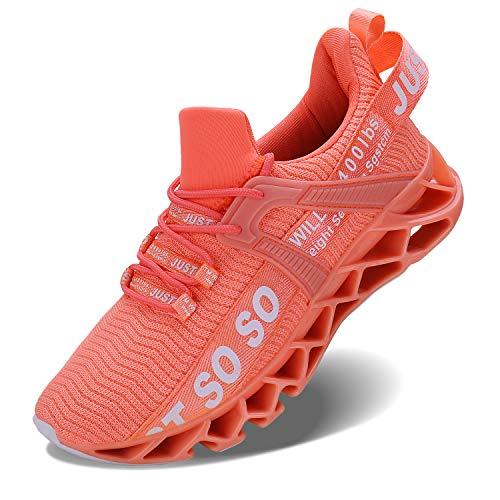Vivay Damen Laufschuhe Walking Athletic fAr Frauen Casual Slip Fashion Sports Outdoor-Schuhe, Orange, 41 EU