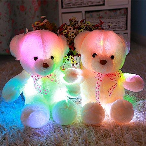 MFEIR Orsacchiotto dello LED colorato bambola Orso e i giocattoli di peluche con musica Regalo di compleanno per ragazza 35cm - 4