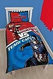 Marvel Captain America Bürgerkrieg Panel Print Bettbezug-Set, Polyester-Baumwolle, Mehrfarbig, Einzelbett