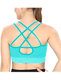 22d081f18d Galani IndiaDeal Shockproof Quick Dry Padded Sports Bra for Sports Gym Yoga  Workout Aerobic Running Jogging