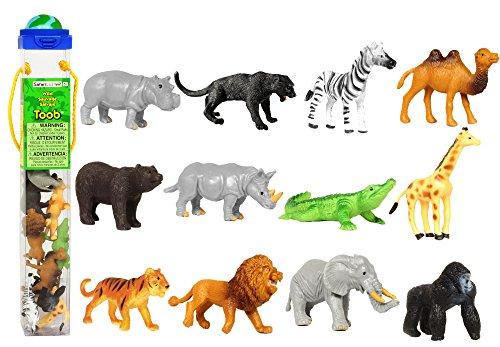 Preisvergleich Produktbild Safari Ltd. Sammelfiguren - Wilde Tiere - 12 Figuren in Tube