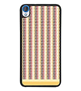 PrintDhaba Dot Pattern D-1474 Back Case Cover for HTC DESIRE 820 (Multi-Coloured)