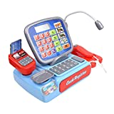 SOKA® Battery Operated Cash Register Super Market Till Pretend Play Toy with Calculator