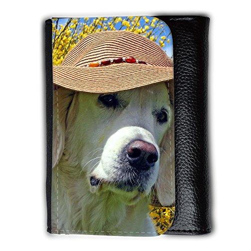 Cartera unisex // V00003514 labrador che porta il cappello spiaggia // Medium Size Wallet