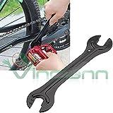 Karbonstahl Schraubenschlüssel 13 14 15 16mm Reparatur für Fahrrad-Pedale und Naben Achse des Rades