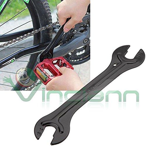 Karbonstahl Schraubenschlüssel 13 14 15 16mm Reparatur für Fahrrad-Pedale und Naben Achse des Rades (Nabe Schraubenschlüssel Fahrrad)