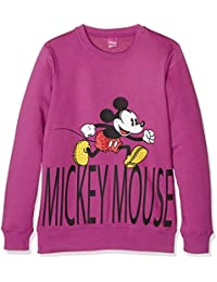 Disney Felpa Ragazza, Sweatshit à Capuche Sportswear Fille