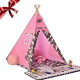 Bloomma Spielzelte, Kinderzelt Spielhaus Kletterzelt mit Bodenmatte und Samtmatte für Indoor Outdoor (ohne Kissen), 45 x 22 cm x 13 cm