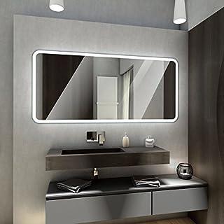 Badspiegel mit LED Beleuchtung von Spiegel-Magic | Wandspiegel Badezimmerspiegel | B x H: 180 cm x 50 cm | Monaco Design