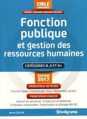 Fonction publique et gestion des ressources humaines