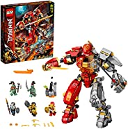 LEGO NINJAGO Fire Stone Mech 71720 building set with 5 minifigures, Toy for Boys and Girls 9+ years old (968 p