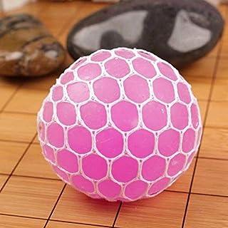 RICISUNG Squishy Mesh Balls Squishy Mesh Balls Fidget Stress Toys Squishes Kids Fun Play Squeezy Gripper Ball