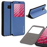 Urcover® Samsung Galaxy S8 Plus Hülle, Wallet mit [ Standfunktion ] Schutzhülle Case Cover Etui Ständer Aufsteller Handyhülle für Samsung Galaxy S8 Plus Farbe: Hell Blau