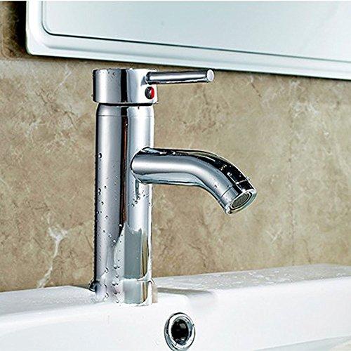 Bijjaladeva Wasserhahn Bad Wasserfall Mischbatterie WaschbeckenMischen von heißem und kaltem Wasser Bad Armatur Waschtisch Armatur Mischen von heißem und kaltem Glas Becken Specia